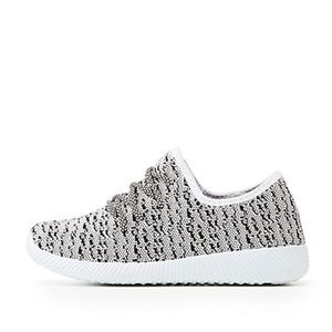 Brand new Qupid Marled Knit Lace-Up Sneakers